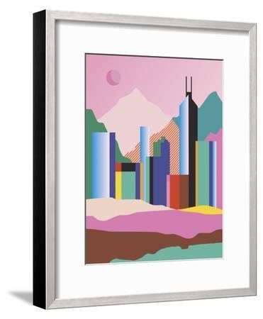 City Mountain-Sophie Ledesma-Framed Giclee Print