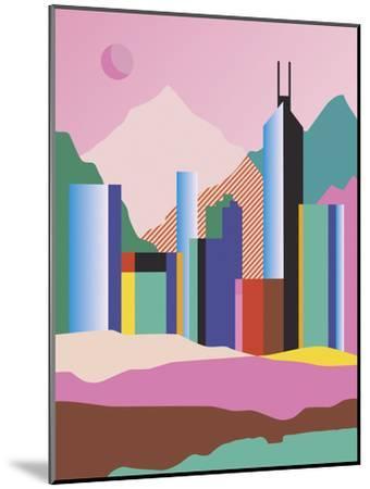 City Mountain-Sophie Ledesma-Mounted Giclee Print