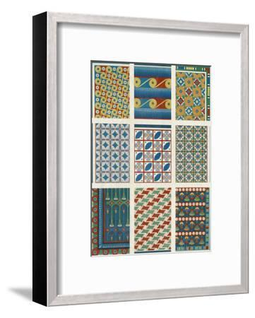 Egyptian Treasures - Mosaic-Historic Collection-Framed Giclee Print