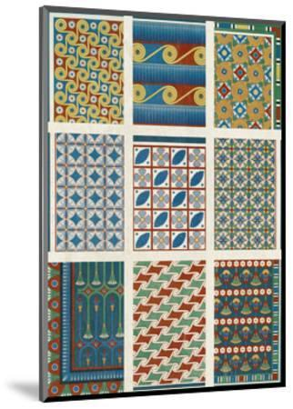 Egyptian Treasures - Mosaic-Historic Collection-Mounted Giclee Print