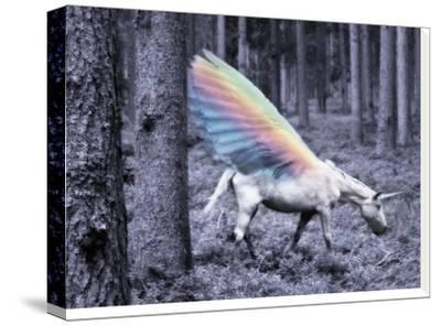 Chasing The Unicorn-Emanuela Carratoni-Stretched Canvas Print