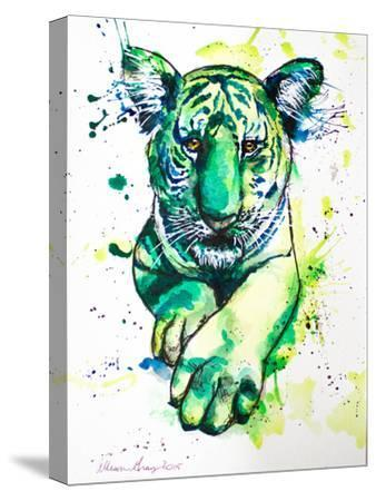 Green Tiger-Allison Gray-Stretched Canvas Print