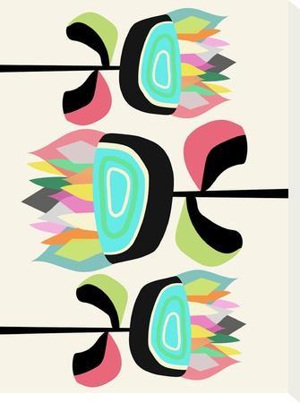 Joyful Plants-Susana Paz-Stretched Canvas Print