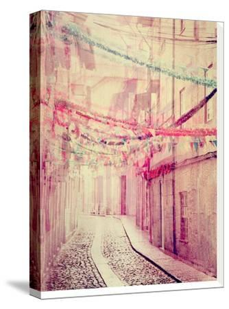 Street Party-Ingrid Beddoes-Stretched Canvas Print