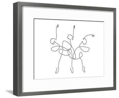 Ballet x3-Explicit Design-Framed Art Print