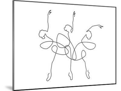 Ballet x3-Explicit Design-Mounted Art Print