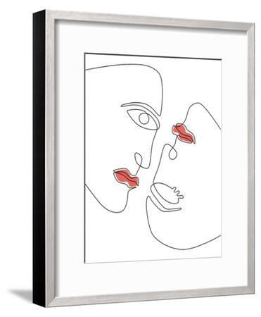 Abstraction Faces-Explicit Design-Framed Art Print