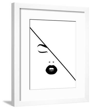 Under The Line-Explicit Design-Framed Art Print