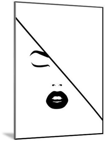 Under The Line-Explicit Design-Mounted Art Print
