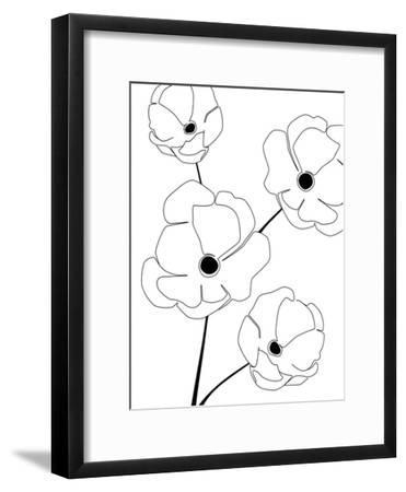 Bloomed Flower-Explicit Design-Framed Art Print