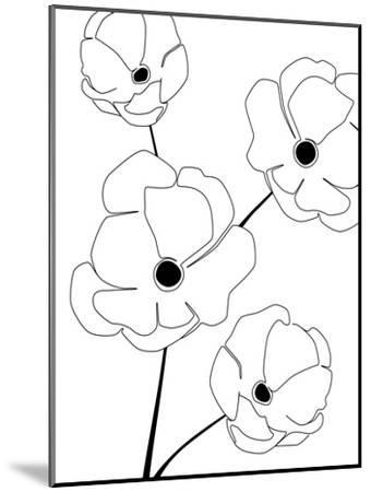 Bloomed Flower-Explicit Design-Mounted Art Print