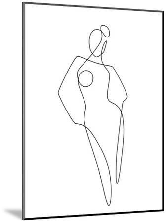Continuous Line Female-Explicit Design-Mounted Art Print