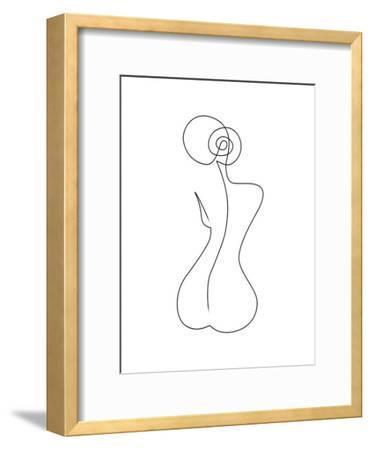 Single Back Line-Explicit Design-Framed Art Print