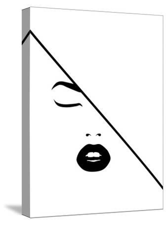 Under The Line-Explicit Design-Stretched Canvas Print