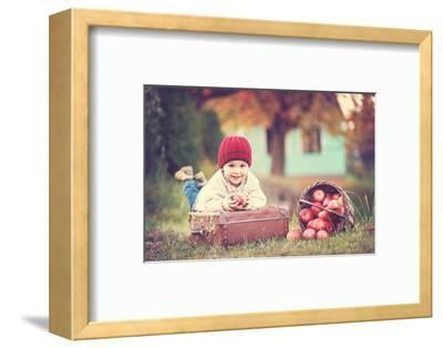 Apple Season--Framed Art Print