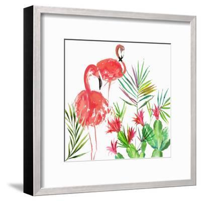 Flamingo Pairing-PI Creative Art-Framed Giclee Print