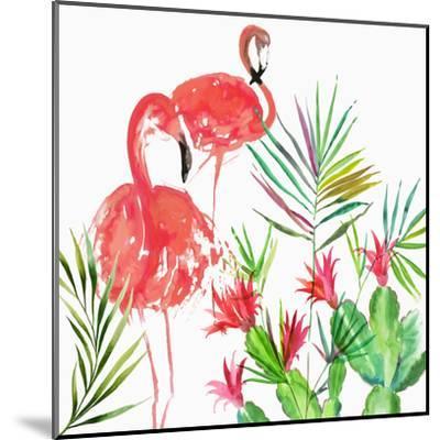 Flamingo Pairing-PI Creative Art-Mounted Giclee Print