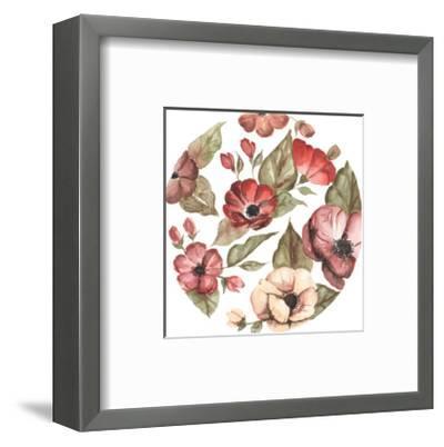 Circular Pink Florals-Shealeen Louise-Framed Giclee Print