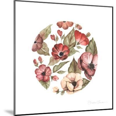 Circular Pink Florals-Shealeen Louise-Mounted Giclee Print