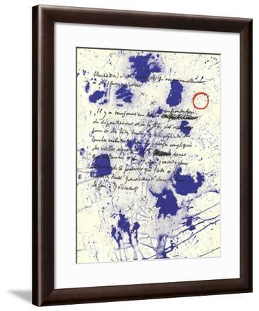 Album 19 Original Lithographs Page 6-Joan Miro-Framed Premium Edition