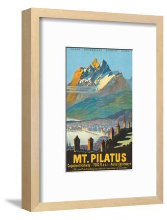 Mt. Pilatus - Lucerne, Switzerland - Cogwheel Railway-Pacifica Island Art-Framed Art Print