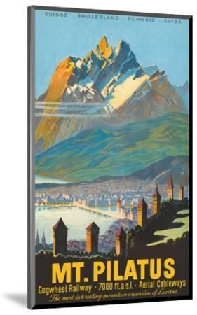 Mt. Pilatus - Lucerne, Switzerland - Cogwheel Railway-Pacifica Island Art-Mounted Art Print