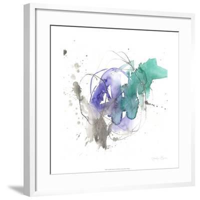 Emerald & Ultraviolet II-Jennifer Goldberger-Framed Limited Edition