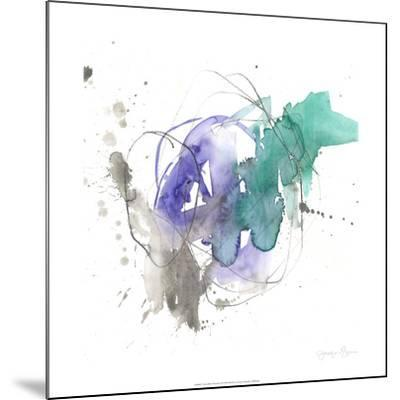 Emerald & Ultraviolet II-Jennifer Goldberger-Mounted Limited Edition