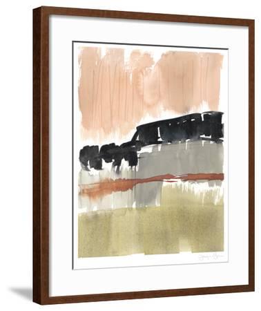 Crimson on the Horizon II-Jennifer Goldberger-Framed Limited Edition