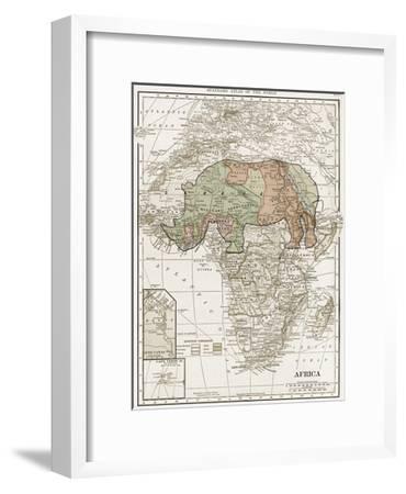 Safari Map-Sheldon Lewis-Framed Art Print
