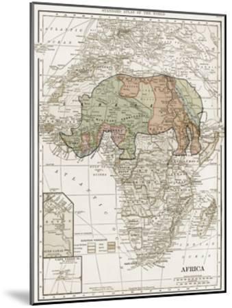 Safari Map-Sheldon Lewis-Mounted Art Print