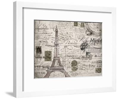 Eco Vintage Paris V2-Carole Stevens-Framed Art Print