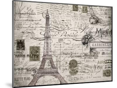 Eco Vintage Paris V2-Carole Stevens-Mounted Art Print