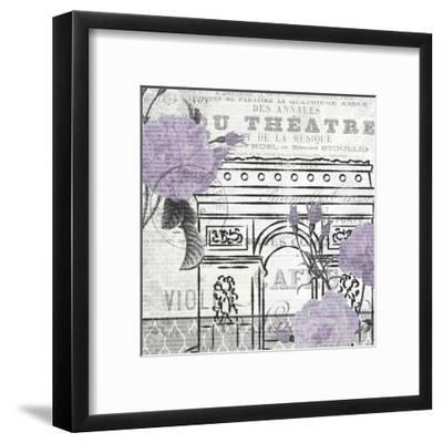 Paris Script Purple 2-Kimberly Allen-Framed Art Print