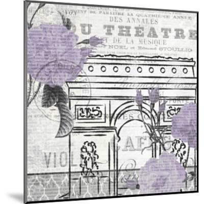 Paris Script Purple 2-Kimberly Allen-Mounted Art Print