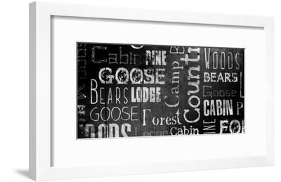 Lodge Words Mate-Jace Grey-Framed Art Print