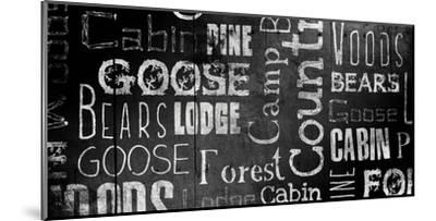 Lodge Words Mate-Jace Grey-Mounted Art Print