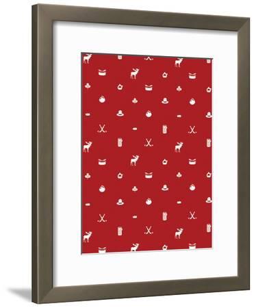 Canada Pattern-Jace Grey-Framed Art Print