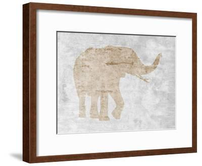Elephant-Sheldon Lewis-Framed Art Print