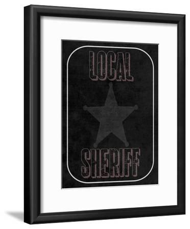 Local Sheriff-Sheldon Lewis-Framed Art Print