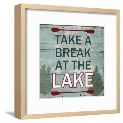 At The Lake-Sheldon Lewis-Framed Art Print