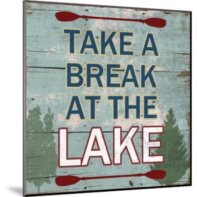 At The Lake-Sheldon Lewis-Mounted Art Print