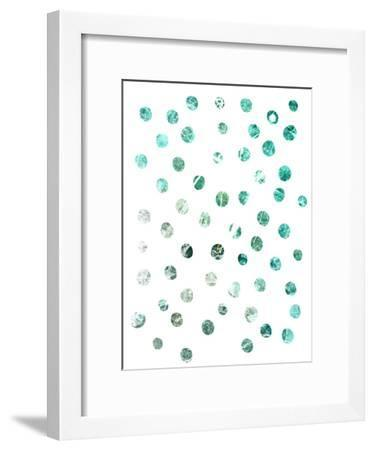 Turquoise Marble Circle Pattern--Framed Art Print