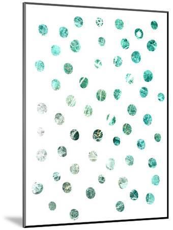 Turquoise Marble Circle Pattern--Mounted Art Print