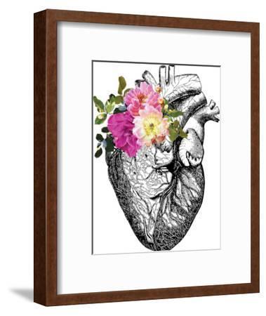 Heart Anatomical Floral-Amy Brinkman-Framed Giclee Print