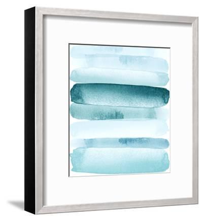 Move Forward Blue-Amy Brinkman-Framed Art Print
