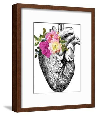 Heart Anatomical Floral-Amy Brinkman-Framed Art Print