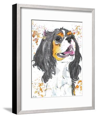 King Charles-Allison Gray-Framed Art Print