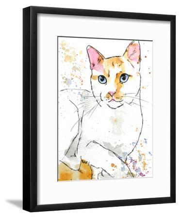 Orange Siamese-Allison Gray-Framed Art Print