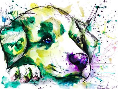 Vivid Aussie Pup-Allison Gray-Framed Art Print